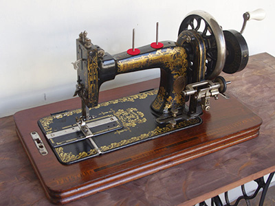 Treadle Sewing Machine by Frister & Rossmann